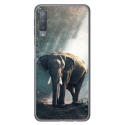 Funda Gel Tpu para Samsung Galaxy A7 (2018) Diseño Elefante Dibujos