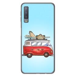 Funda Gel Tpu para Samsung Galaxy A7 (2018) Diseño Furgoneta Dibujos
