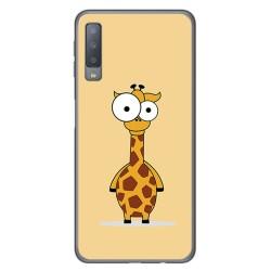 Funda Gel Tpu para Samsung Galaxy A7 (2018) Diseño Jirafa Dibujos