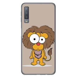 Funda Gel Tpu para Samsung Galaxy A7 (2018) Diseño Leon Dibujos