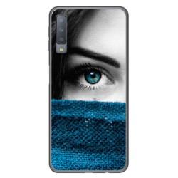 Funda Gel Tpu para Samsung Galaxy A7 (2018) Diseño Ojo Dibujos