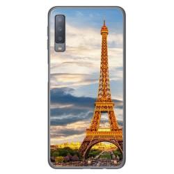 Funda Gel Tpu para Samsung Galaxy A7 (2018) Diseño Paris Dibujos
