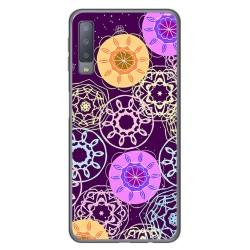 Funda Gel Tpu para Samsung Galaxy A7 (2018) Diseño Radial Dibujos