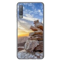 Funda Gel Tpu para Samsung Galaxy A7 (2018) Diseño Sunset Dibujos