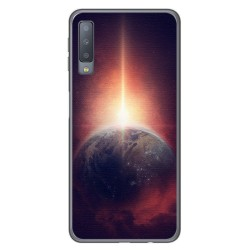 Funda Gel Tpu para Samsung Galaxy A7 (2018) Diseño Tierra Dibujos