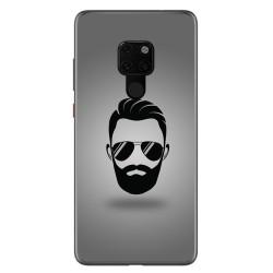 Funda Gel Tpu para Huawei Mate 20 Diseño Barba Dibujos