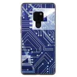 Funda Gel Tpu para Huawei Mate 20 Diseño Circuito Dibujos