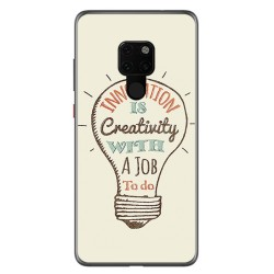 Funda Gel Tpu para Huawei Mate 20 Diseño Creativity Dibujos