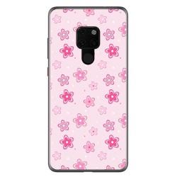 Funda Gel Tpu para Huawei Mate 20 Diseño Flores Dibujos