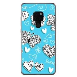 Funda Gel Tpu para Huawei Mate 20 Diseño Mariposas Dibujos