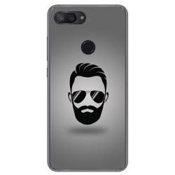 Funda Gel Tpu para Xiaomi Mi 8 Lite Diseño Barba Dibujos