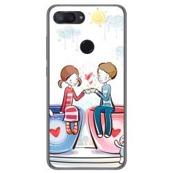 Funda Gel Tpu para Xiaomi Mi 8 Lite Diseño Café Dibujos