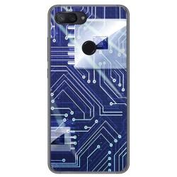 Funda Gel Tpu para Xiaomi Mi 8 Lite Diseño Circuito Dibujos