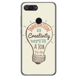 Funda Gel Tpu para Xiaomi Mi 8 Lite Diseño Creativity Dibujos