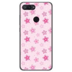 Funda Gel Tpu para Xiaomi Mi 8 Lite Diseño Flores Dibujos