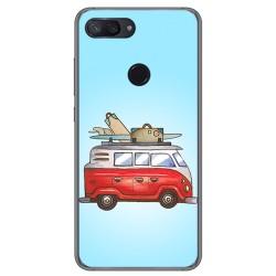 Funda Gel Tpu para Xiaomi Mi 8 Lite Diseño Furgoneta Dibujos