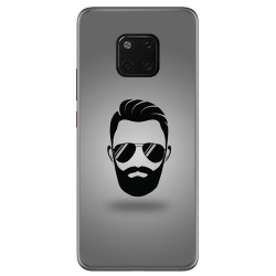 Funda Gel Tpu para Huawei Mate 20 Pro Diseño Barba Dibujos