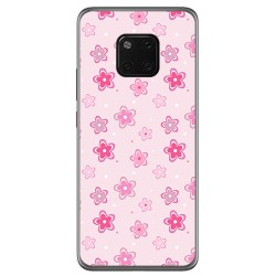 Funda Gel Tpu para Huawei Mate 20 Pro Diseño Flores Dibujos