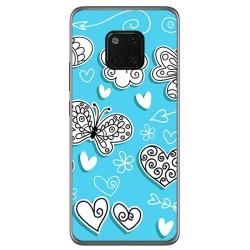 Funda Gel Tpu para Huawei Mate 20 Pro Diseño Mariposas Dibujos