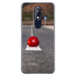 Funda Gel Tpu para Nokia 7.1 Diseño Apple Dibujos
