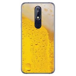 Funda Gel Tpu para Nokia 7.1 Diseño Cerveza Dibujos