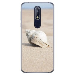 Funda Gel Tpu para Nokia 7.1 Diseño Concha Dibujos