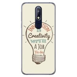 Funda Gel Tpu para Nokia 7.1 Diseño Creativity Dibujos