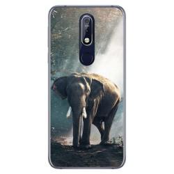 Funda Gel Tpu para Nokia 7.1 Diseño Elefante Dibujos