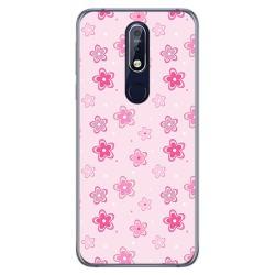 Funda Gel Tpu para Nokia 7.1 Diseño Flores Dibujos