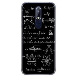 Funda Gel Tpu para Nokia 7.1 Diseño Formulas Dibujos