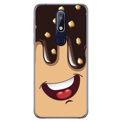 Funda Gel Tpu para Nokia 7.1 Diseño Helado Chocolate Dibujos