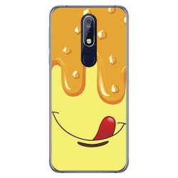 Funda Gel Tpu para Nokia 7.1 Diseño Helado Vainilla Dibujos