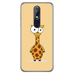 Funda Gel Tpu para Nokia 7.1 Diseño Jirafa Dibujos