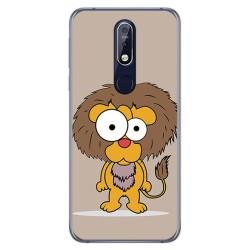 Funda Gel Tpu para Nokia 7.1 Diseño Leon Dibujos