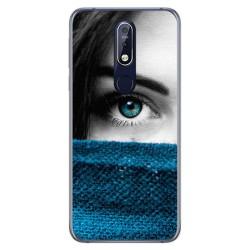 Funda Gel Tpu para Nokia 7.1 Diseño Ojo Dibujos