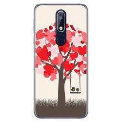 Funda Gel Tpu para Nokia 7.1 Diseño Pajaritos Dibujos