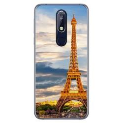 Funda Gel Tpu para Nokia 7.1 Diseño Paris Dibujos
