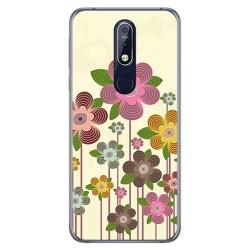 Funda Gel Tpu para Nokia 7.1 Diseño Primavera En Flor Dibujos