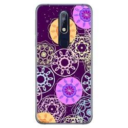 Funda Gel Tpu para Nokia 7.1 Diseño Radial Dibujos