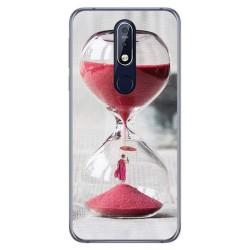 Funda Gel Tpu para Nokia 7.1 Diseño Reloj Dibujos