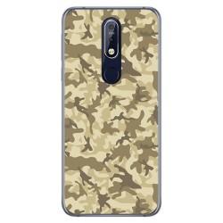 Funda Gel Tpu para Nokia 7.1 Diseño Sand Camuflaje Dibujos