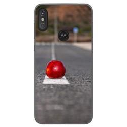 Funda Gel Tpu para Motorola One Diseño Apple Dibujos