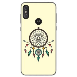Funda Gel Tpu para Motorola One Diseño Atrapasueños Dibujos