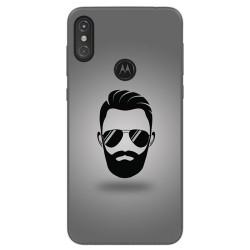 Funda Gel Tpu para Motorola One Diseño Barba Dibujos