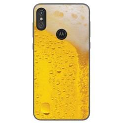 Funda Gel Tpu para Motorola One Diseño Cerveza Dibujos