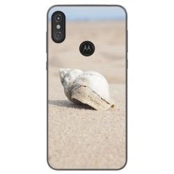 Funda Gel Tpu para Motorola One Diseño Concha Dibujos