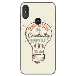 Funda Gel Tpu para Motorola One Diseño Creativity Dibujos
