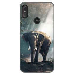 Funda Gel Tpu para Motorola One Diseño Elefante Dibujos