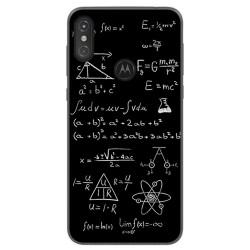 Funda Gel Tpu para Motorola One Diseño Formulas Dibujos