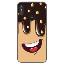 Funda Gel Tpu para Motorola One Diseño Helado Chocolate Dibujos